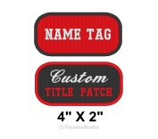 Custom Embroidered Name Tag Title Patch Motorcycle Biker Badge 10cm X 5.1cm