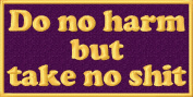 Do No Harm But Take No S Embroidered Iron On Applique Patch - Purple, Gold, 5.1cm x 10cm Rectangle