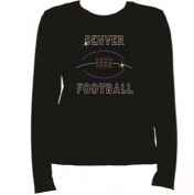 Rhinestone Denver Football Women T Shirt LR UZUG
