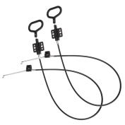Mudder Recliner Replacement Cable D Ring Recliner Release Pull Handles, Exposed Cable Length 12cm with S Tip, 2 Pieces