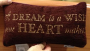 Disney Park A Dream is a Wish Your Heart Makes Decorative Toss Pillow Decorator by Disney