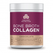 Ancient Nutrition Bone Broth Collagen, Chocolate Flavour, 550ml - 30 Servings of All-Natural Protein Powder Loaded with Bone Broth Co-Factors, 10g of Type I, II and III Collagen Per Serving