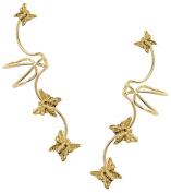 Full Ear, Butterfly Ear Cuff Earrings, Gold Vermeil- A Pair