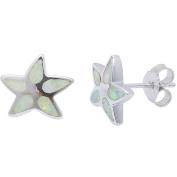 Starfish Earrings Lab Created White Opal Starfish Stud Earring Nautical Jewellery