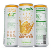 NatureWise Whole Body Vitality Drinks Reduce Stress, Enhance Focus, and Suppress Cravings. Sparkling Tropical White Tea and Ashwagandha, 0 Sugar, 0 Calories