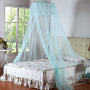 Luckyauction Mosquito Net Bed Canopy with Lace Dome Princess Hung Dome Mosquito Net,Blue