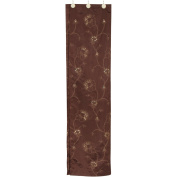 United Linens Sequin Embroidery Printed Tropical Shower Curtain Camelia collection with Vivid Colour Brighten Bathroom