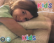 Kid's Choice Pillow/Travel pillow - No pillowcase needed - Machine washable - Made in the USA