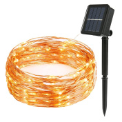 Flight Solar Powered String Lights, 22m 200 LED Copper wire Lights Indoor Outdoor Decorative Lights for Gardens, Wendding, Party, Seasonal Holiday