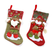 Christmas Stockings Christmas Decor Santa Claus Snowman 46cm Length 2pcs