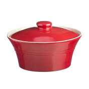 Mason Cash Round Stoneware Casserole and Lid, 2-1/2-Litres, Classic Red