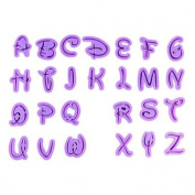 Cartoon Font Letter Alphabet Cutouts - Cookie and Fondant Cutter Sets from Bakell …