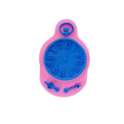 Efivs Arts EA1232 Pocket Watch Shape Silicone Mould Fondant Mould Cupcake Cake Top Decoration Tool Cake Side Decorating Mould