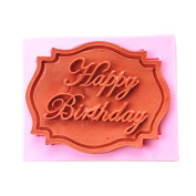 Efivs Arts EA549 Happy Birthday Alphabet Silicone Mould for Cake Topper Decoration Chocolate Mould Fondant Tool