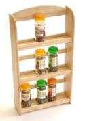ARSUKRB 3-Tier Spice Rack Holds 15 Jars-Spice Jar Holder, Wooden Rack-Kitchen Rack