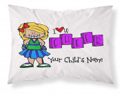 """Customizable, """"Cheerleader"""" Pillowcase. Personalised With Your Child's Name - Perfect Gift For Little Girls Of All Ages! Blonde Hair"""