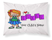 """Customizable, """"Cheerleader"""" Pillowcase. Personalised With Your Child's Name - Perfect Gift For Little Girls Of All Ages! Red Hair"""