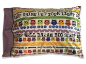 Let Your Light Shine Pillowcase FLIPSIDE PILLOW, LLC Children's Minky Autograph pillow case with attached permanent non toxic fabric marker