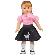 Poodle Skirt Outfit for American Girl Dolls