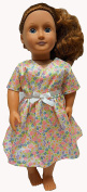 Flowers - Sparkle Dress For 46cm Dolls, American Girl, Our Generation, My Life Dolls