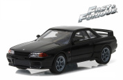 """1989 fits Nissan Skyline GT-R (R32) Black Fast and Furious """"Fast 18cm Movie (2014) 1/43 by Greenlight 86229"""