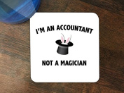 I'm An Accountant Not a Magician Silicone Drink Beverage Coaster 4 Pack by Moonlight Printing