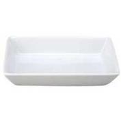 Vertex China Signature Collection Rectangle Porcelain White Deep Dish, 22cm x 14cm -- 24 per case.