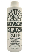 Novacan Black Patina For Zinc 240ml Stained Glass Supplies