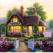 Blxecky 5D DIY Diamond Painting By Number Kits,Fairy tale cottage