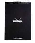 Rhodia Wirebound Pad 8.25X11.75 Black Dot