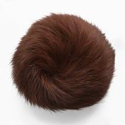 COFFEE Rabbit Fur Pom pom balls by pc, Approx. 7.6cm - 8.3cm , TR-10371