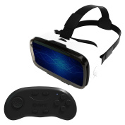 3D VR Headset, 2017 Latest Version Just Released Comfortable Virtual Reality Glasses for iPhone & Android – 360 Degree Immersive Large Screen Experience For Games & Movies With Eye Adjustment