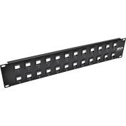 Tripp Lite 24-Port Keystone Blank Patch Panel RJ45 USB HDMI Cat5/6 2URM