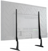 VIVO Universal LCD Flat Screen TV Table Top VESA Mount Stand Black | Base fits 90cm - 170cm