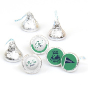 Par-Tee Time - Golf - Birthday or Retirement Party Round Candy Sticker Favours - Labels Fit Hershey's Kisses