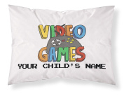 """Customizable, """"GAMER"""" Pillowcase. Personalised With Your Child's Name - Perfect Gift For Boys Or Girls Of All Ages!"""