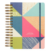 """C.R. Gibson 3-in-1 Journal, By Iota Chic, Includes 3 different types of pages throughout, Measures 7.25"""" x 8.55"""" - Sarong"""