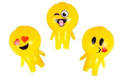 3 Count Squishy Sticky Gooey Splat Smiley Face Emoji Buddy Toys Set A