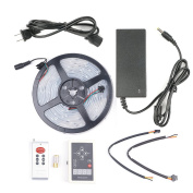 Velain 16.4FT 5M 5050 RGB LED Strip Light Dream Colour 6803 IC IP67 Waterproof 133 Colour Change with 133 Effects RF Controller and 12V 5A Power Supply