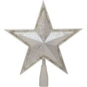 Holiday Time 27cm Silver Star Tree Topper with 24 LED Cool White Lights
