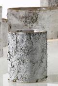 White Birch Bark Cylinder Vase 15cm
