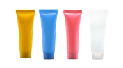 20PCS 15ml Candy Colour Empty Refillable Plastic Soft Tubes Bottle with Screw Cap Packing Sample Lip Gloss Balm Container For Shampoo Cleanser Shower Gel Body Lotion Colour by Random