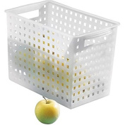 Household Storage Basket for Office, Garage, Bathroom and more, 35cm x 22cm x 22cm , Frost