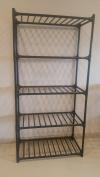 Black Metal Storage Rack, 5 Shelfs