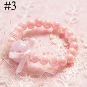 Flamboyantgoods Children Fashion Jelly Baby 2017 Lovely Candy Gift Coloured Girls Pearl Bracelet #3