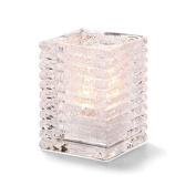 Hollowicks Block Clear Jewel Horizontal Rib Glass Lamp, 10cm Height -- 1 each.
