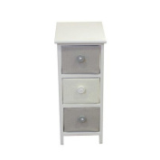 26cm x 60cm Contemporary Free Standing Cabinet -Grey/White | Number of Drawers