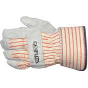 Gempler's 224349 Leather Palm Work Gloves, Safety Cuff, Size Small, 1 Pair