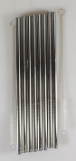 Generic 8 Stainless Steel Wide Smoothie Straws Large Straight Frozen Drink Straw and 2 Cleaning Brush