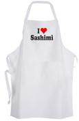 I Love Sashimi – Adult Size Apron – Heart Japanese Delicacy Fish Sushi